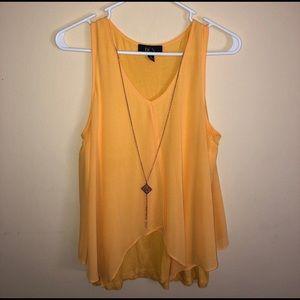 BCX Yellow Blouse